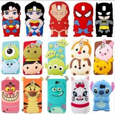 Cartoon Samsung Galaxy S6 S7 Edge Cases 3D Character Soft Case Cover For Samsung…
