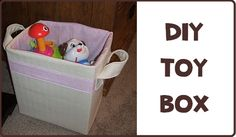 Make your own fully lined toy box
