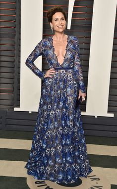Minnie Driver from Oscars 2016: Party Pics  Actress strikes a pose for the cameras before heading into the Vanity Fair party.