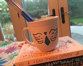 Castiel Hey Assbutt Handpainted mug