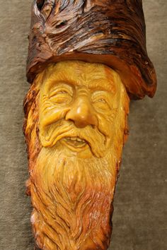 A Unique Wood Spirit Wood Carving of an Elf by TreeWizWoodCarvings