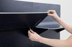 Benjamin Hubert designs shelving made from Kvadrat's textile material