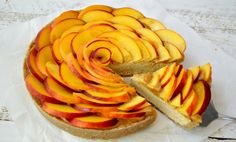 Spiced Peach Tart With Citrus Cream and Salted Caramel [Vegan, Gluten-Free] | One Green Planet