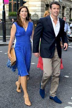 Kronprinsesse Mary og kronprins Frederik til OL i London 2012.