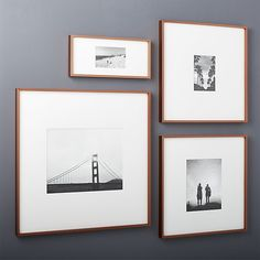 gallery copper picture frames with white mats | CB2