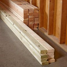 Separate Your Lumber When you unload lumber at a job site, set the studs, top plates and bottom plates in different piles. That way, every time you start a new wall section, you won't have to move 20 studs to grab the top plate buried at the bottom of the pile. Also, moving lumber from one side of the room to the other is not an efficient use of time, so make sure your pile is located in a close but out-of-the-way location.