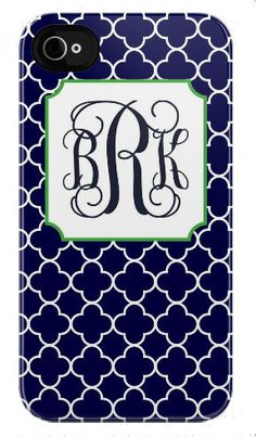 Navy Blue Quatrefoil Phone Case  whatever phone I need to sport this case, i now want... soo cool. I love quatrefoil!