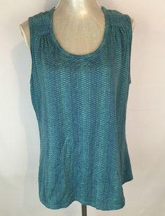 Woolrich Tank Top Shirt Size XL Teal Blue Green Spring Summer Wear #Woolrich #BasicSleevelessTop #Casual