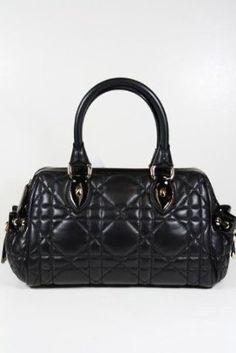 Christian Dior handbags Black Leather just-bags Dior Handbags 88c624d04e