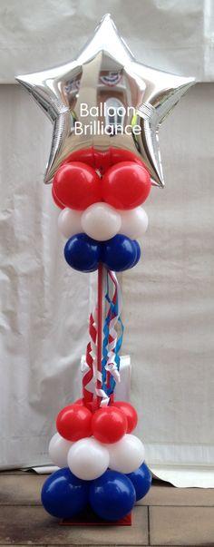 #welcome #marquee #entrance #balloon #columns #entrance #large #foilstar #header #4thofjuly #canberra #australia #BalloonBrilliance