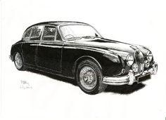 Pluma y tinta de dibujo, A4 - Jaguar Mk II