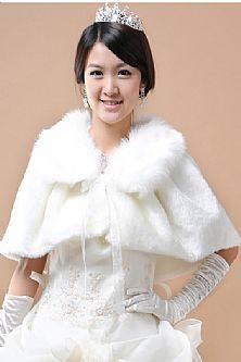 Hot Selling Wool Warm White Wedding Wrap