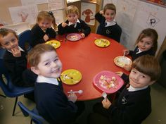 Fresh fruit platters made by the young pupils in Reception at Rainhill St.Ann's.