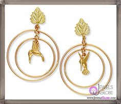 Unique designs of Nature Earrings made of 14K gold and Sterling Silver