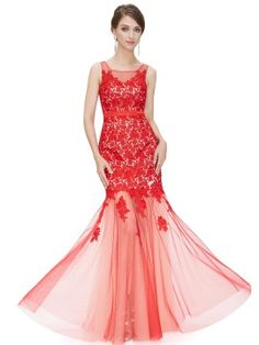Shop Red Lace Overlay Floral Applique Sheer Panel Maxi Dress from choies.com .Free shipping Worldwide.$110.99