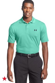 Keep cool, dry and comfortable, hole after hole, in this Under Armour golf polo, designed to wick sweat away from the body. Shop now at Macy's!