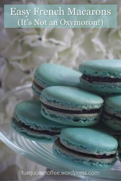 "Easy French Macarons…Ah, the elusive macaron (pronounced with a heavy French accent, ""maa-kaargh-roe""). Show up to a party with a box of these soft yet crunchy, deliciously delica…"