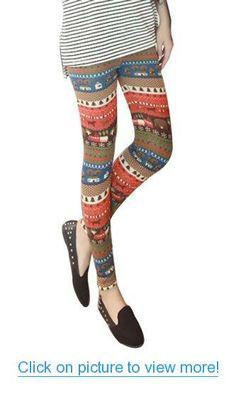 Amour Women's Snowflake Christmas Ankle Length Leggings