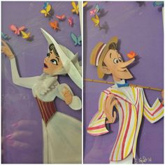 Close up of the Disney Mary Poppins paper art by Effie Snow.