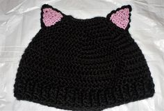 New PUSSY CAT PONYTAIL Messy Bun Hat.  by FASHIONABLEINFANT