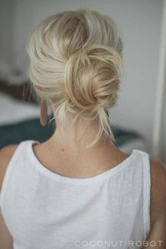 easy+chignon+updo+for+long+hair