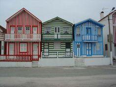 fishermen houses - Costa Nova, Aveiro, Portugal