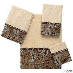 Avanti Bradford Embellished 4-piece Towel Set - Overstock™ Shopping - Top Rated Avanti Bath Towels