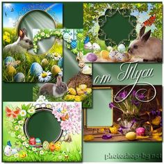 Set of children's frames for Easter - Easter Christ loved by all