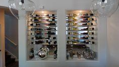 #Custom #winerack  #basementremodel #remodel #remodeling #cle #after #designbuild #basementideas #bar