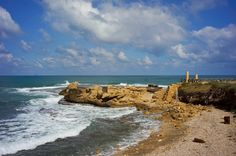 Seaside view from Caesarea Maritima, a national park on the Israeli coastline near the town of Caesarea. https://flic.kr/p/ewwEE5