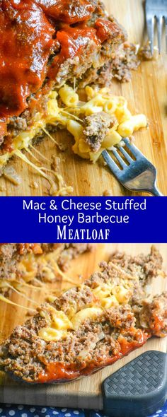 A solid meatloaf is often the cure for anything that ails you, especially since they're a quick & easy dinner, even on a budget. This one is stuffed with a rich, creamy macaroni & cheese, and topped with a slightly sweet & savory sauce. This Mac & Cheese Stuffed Honey Barbecue Meatloaf is ready in an hour, and the answer to any and all dinner dilemmas where comfort food is a must. #macandcheese #honey #barbecue #meatloaf