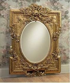 Guy Michaels Salon of Fine Things - Specializing in Luxury for the Luxurious - Objet d'art Small Mirrors, Antique Mirrors, Gold Mirrors, Beveled Mirror, Mirror Mirror, Decoration Piece, Beautiful Mirrors, Dream Furniture, Oval Frame