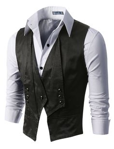 J.TOMSON - Mens Vest with One Button Up and Three Buttons
