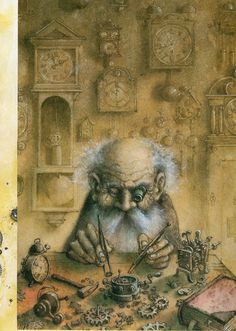 Pavel Čech,O Zahradě Gnome Pictures, Illustrations And Posters, Children's Book Illustration, Fantasy World, Drawing People, Faeries, Painting & Drawing, Illustrators, Fairy Tales