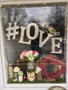 Valentines day window display #love