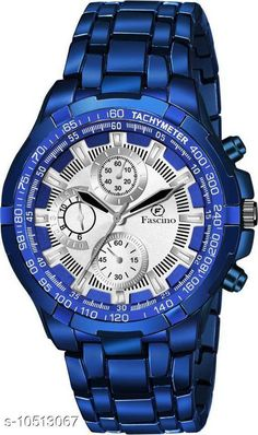 Checkout this latest Watches Product Name: *Fascino New Stylist Explorer & Business Casual Blue Metal Chain Belt Blue Watch With Decorative Sub-Dials For Men And Boys FCW 2979-BLUE Analog Watch - For Men * Strap Material: Metal Display Type: Chronograph/ Multifunctional Size: Free Size Multipack: 1 Country of Origin: India Easy Returns Available In Case Of Any Issue   Catalog Rating: ★4 (238)  Catalog Name: Free Mask Unique Men Watches CatalogID_1920062 C65-SC1232 Code: 853-10513067-9911