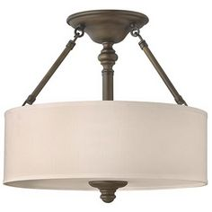 """Sussex Collection English Bronze 16"""" Wide Ceiling Light"""