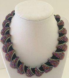 Bumpy Beaded Necklace by FireSkyBeadwork on Etsy