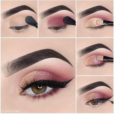 Awesome eye make-up tutorials for our girls! - MakeUp For Women İdeas Glam Makeup, Skin Makeup, Makeup Inspo, Eyeshadow Makeup, Makeup Inspiration, Beauty Makeup, Makeup Shop, Girls Makeup, Mime Makeup
