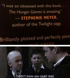 Hunger Games + Harry Potter + Dissing Twilight :)