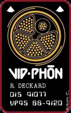 """Blade Runner - Rick Deckard's """"Vid-Phon"""" Card"""