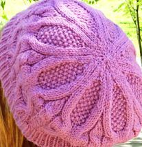 Knitting Galore: Two Needle Cable Beret