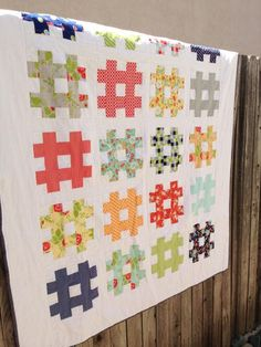 Hashtag Quilt project on Craftsy.com