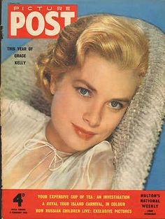 GRACE KELLY COVER PICTURE POST  1955