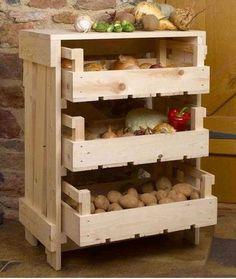 Organizadores de cocina hechos con cajas de madera. #muebleslowcost #mueblesDIY