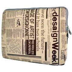 $20 13 inch Newspaper Pattern Notebook Laptop Sleeve