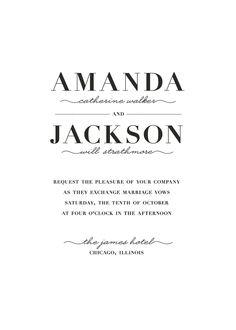 "wedding invitations - ""Streamlined"". $96.00, via Etsy."