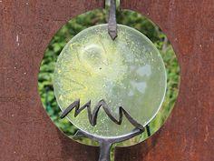 Grabkreuze Metall, Cortenstahl Grabzeichen, Glasfusing Sonne Bronze, Corten Steel, Spot Lights, Metal