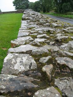 Stopping by on a rainy day to see the old Roman wall Hadrian's Wall, Stone Fence, Dry Stone, Roman Empire, Fences, Ancient History, Newcastle, Places Ive Been, Rome
