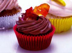 Chipotle Dark Chocolate Cupcakes Recipe : Food Network